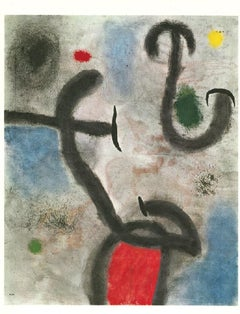 Price-Woman and Bird - Original Lithograph by Joan Mirò - 1965