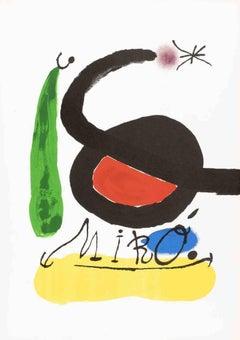 Sans titre - Vintage Lithographic Poster After Joan Mirò - 1980s