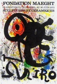 Sculptures et Ceramics, 1973 Event Lithograph, Joan Miro