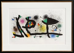 Sculptures (M. 950), Framed Lithograph by Joan Miro
