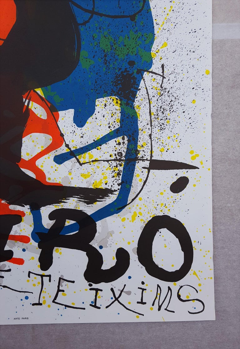 An original lithograph, exhibition poster on wove paper by Spanish artist Joan Miro (1893-1983) titled