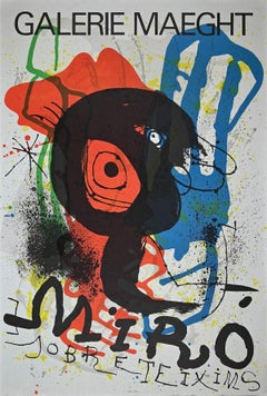 Sobreteixims -Vintage Lithographic Poster After Joan Miró - 1973