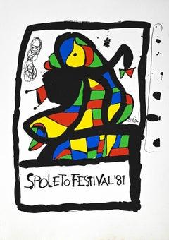 Spoleto Festival - Original Lithograph by Joan Mirò - 1981
