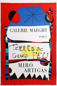 Terres du Grand Feu, Exhibition Miro-Artigas at Galerie Maeght