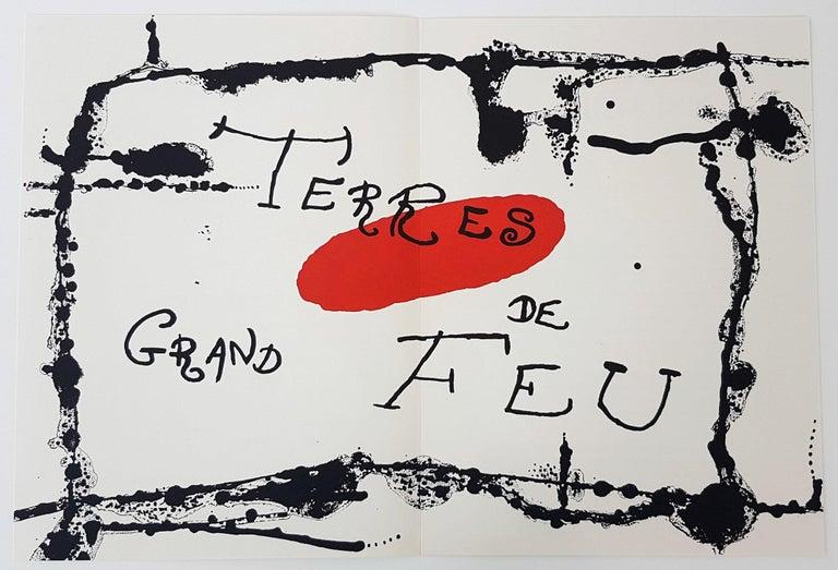 Joan Miró Figurative Print - Terres Grand de Feu (one plate from Artigas)