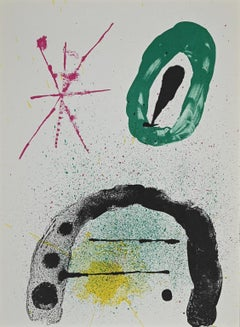 The Gardener's Daughter - Original Lithograph by Joan Mirò - 1963