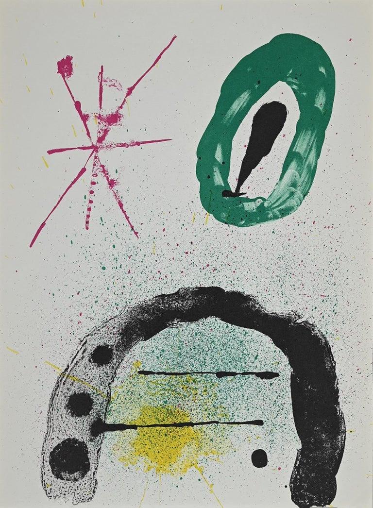 Joan Miró Abstract Print - The Gardener's Daughter - Original Lithograph by Joan Mirò - 1963