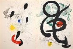 The Huntress - Original Lithograph by Joan Mirò - 1965