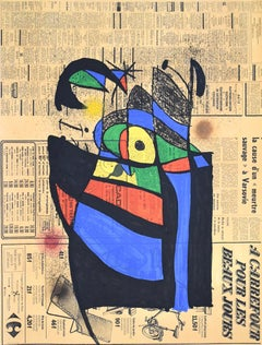 The Newspaper  Le Journal - Abstract Spanish Art