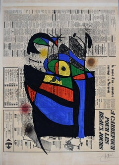 The Newspaper  Le Journal - Spanish Modern Master, Original Print