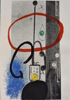 The Night Guardian  Le gardien de nuit - Spanish Abstrcat Art