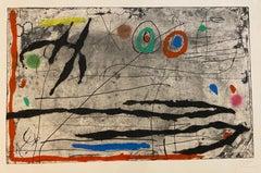 Trace sur la Paroi I - Joan Miró, Etching, Aquatint, Abstract Prints, Surrealist