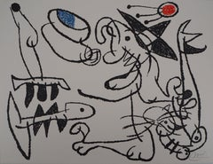 Ubu : Fisherman and Cat - Original Handsigned Lithograph - Mourlot 1971