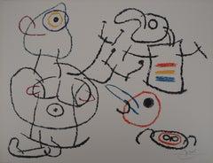 Ubu : Model, Painter and Dog - Original Handsigned Lithograph - Mourlot
