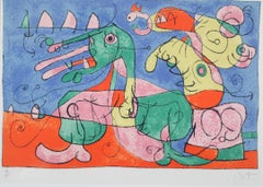 Ubu Roi Suite, Plate VIII,  Abstract Colored Lithograph