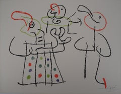 Ubu : The Family - Original Handsigned Lithograph - Mourlot