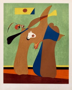 Une Femme, Signed Lithograph by Joan Miro 1958