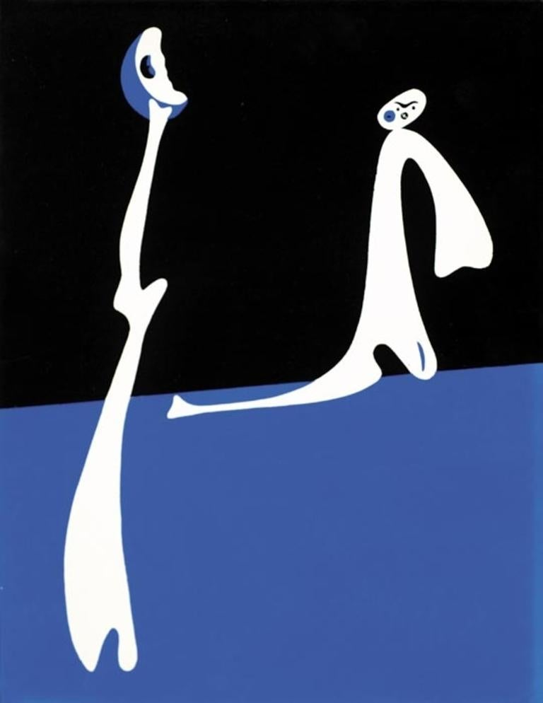 Joan Miró Abstract Print - Untitled from Cahiers d'Art (Blue)