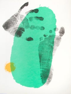 Untitled (Hand and foot print with green)