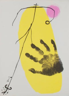 untitled (Hand print with yellow)