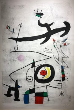 Joan Miro, Village D'Oiseaux, etching