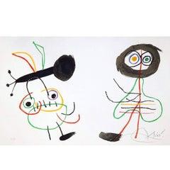 Joan Miro Signed Original Color Lithograph, 1975 - L'Enfance d'Ubu