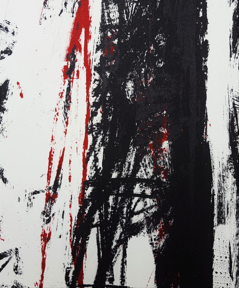 Arbres (Black and Red) For Sale 8