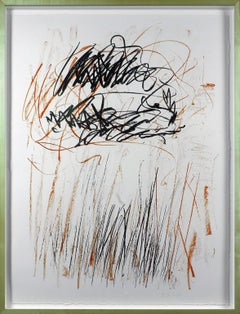 """""""Flower II"""" 2-color lithograph signed and numbered by artist Joan Mitchell"""