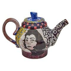 Joan Mitchell Teapot in Glazed Ceramic by Roberto Lugo