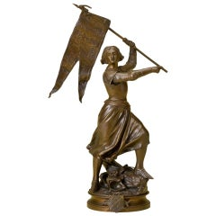 Joan of Arc Bronze, after Adrien Etienne Gaudez, circa 1880-1910