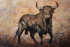 Brau - 21st Century, Contemporary, Figurative, Oil Painting, Canvas, Bull