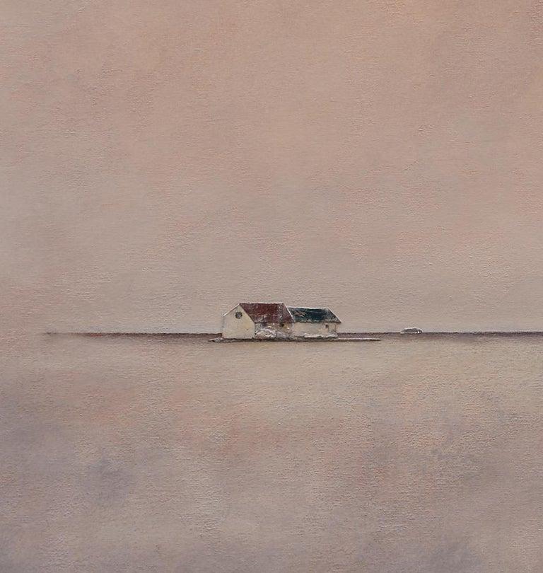 Ca l'Àvia - 21st Century, Contemporary, Acrylic, Figurative Landscape Painting - Brown Figurative Painting by Joan Peris