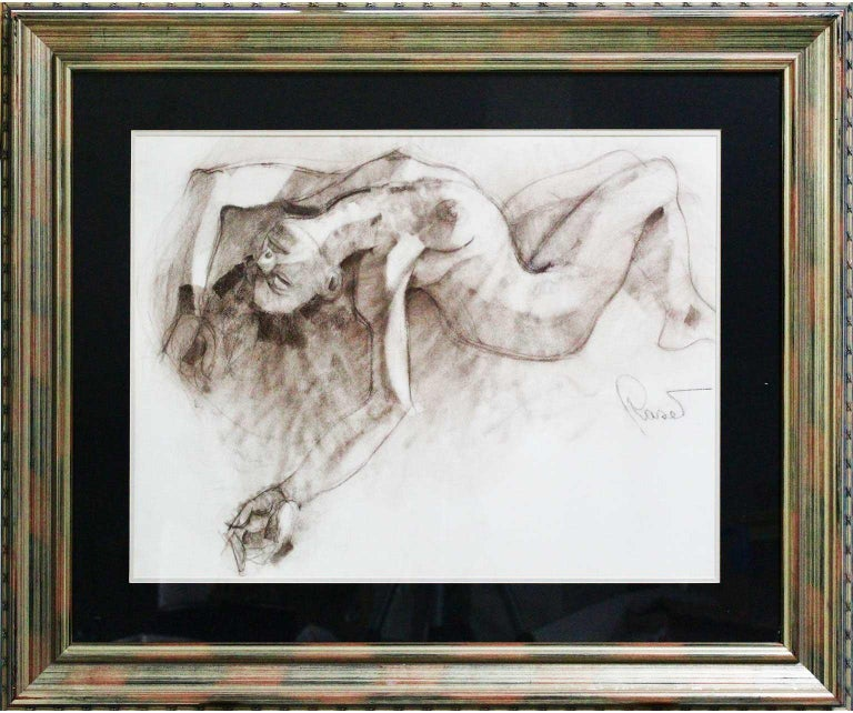 Joan Raset Charcoal Paper Painting