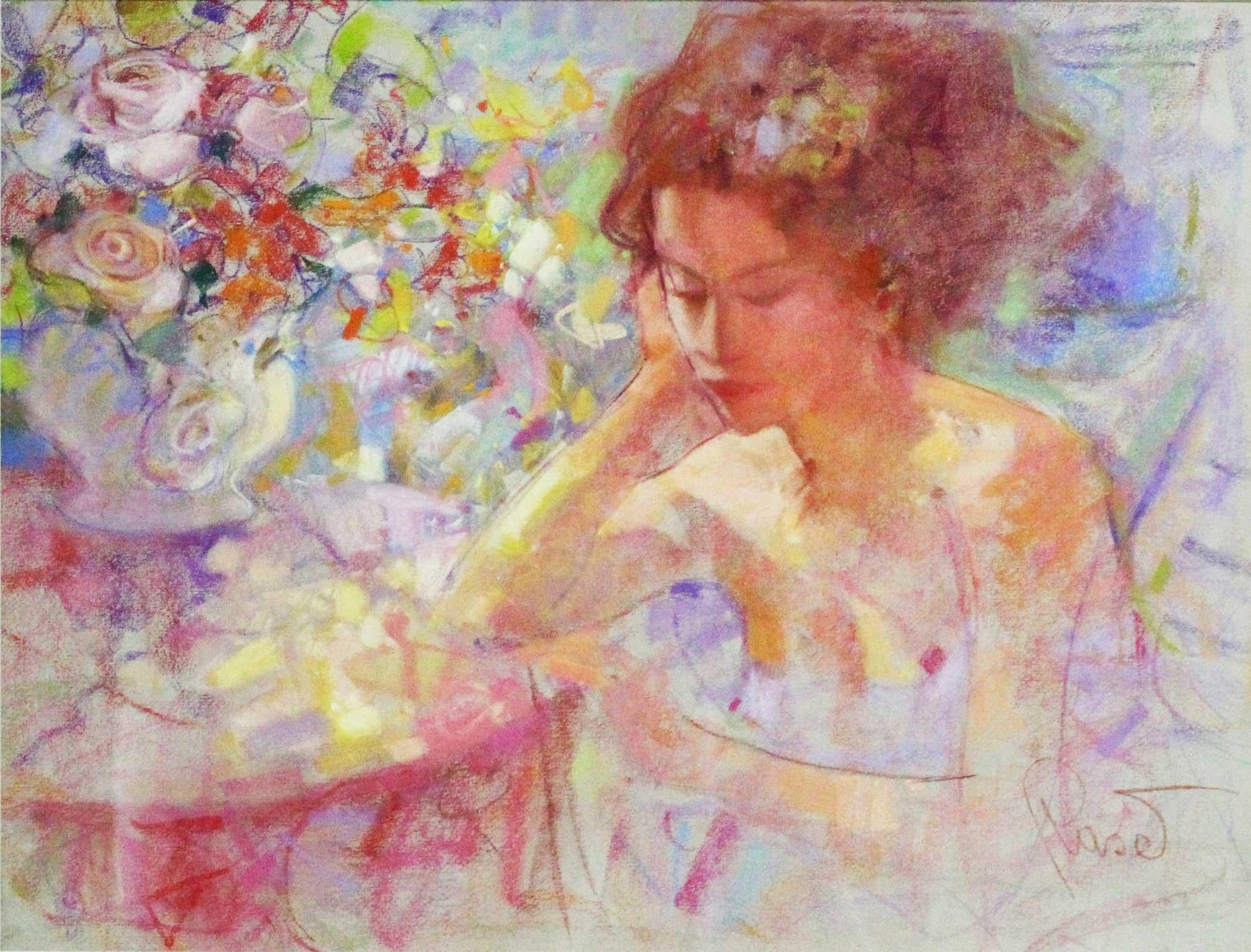 Reveries - Joan Raset Pastel on Carson Paper Painting Impressionist