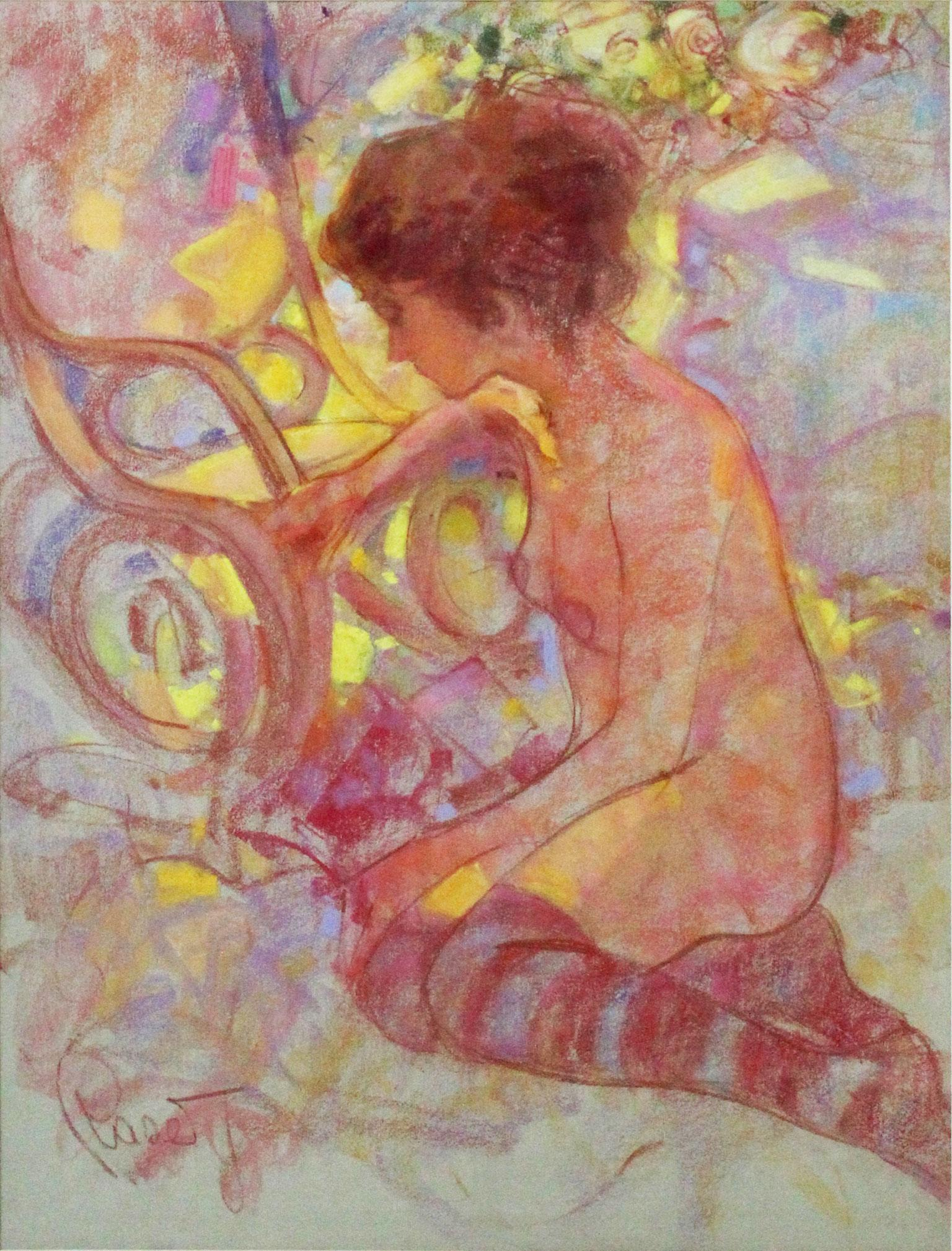 Summer Afternoon - Joan Raset Pastel on Carson Paper Painting Impressionist