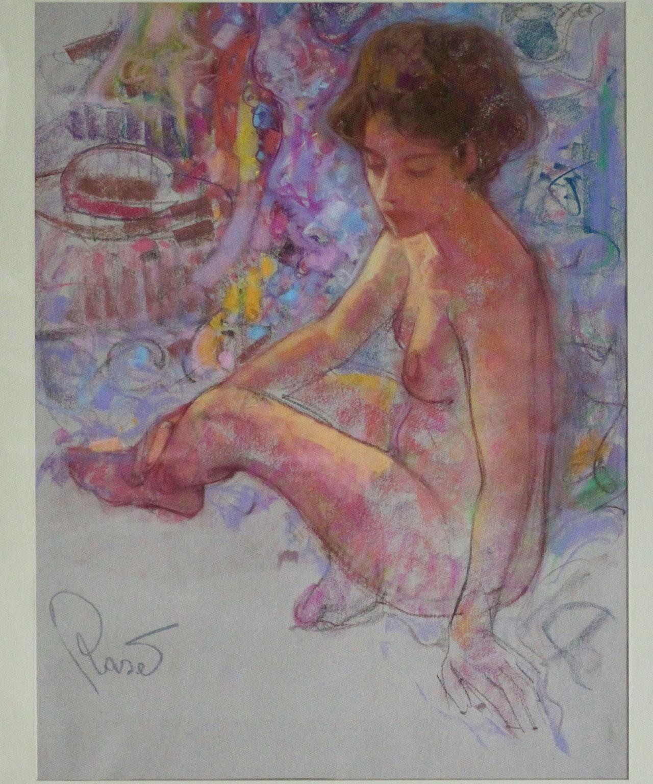 Expectations - Joan Raset Pastel on Carson Paper Painting Impressionist