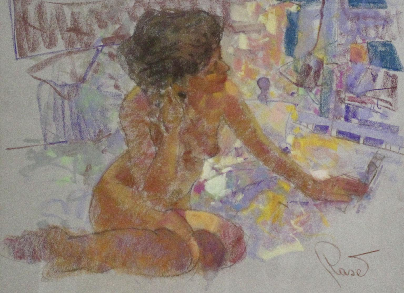 Grace - Joan Raset Pastel on Carson Paper Painting Impressionist