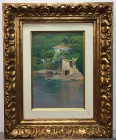 """  Marine "" original impressionist oil painting"