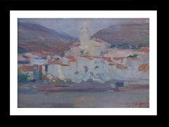 Cadaques origunal impressionist  acrylic painting