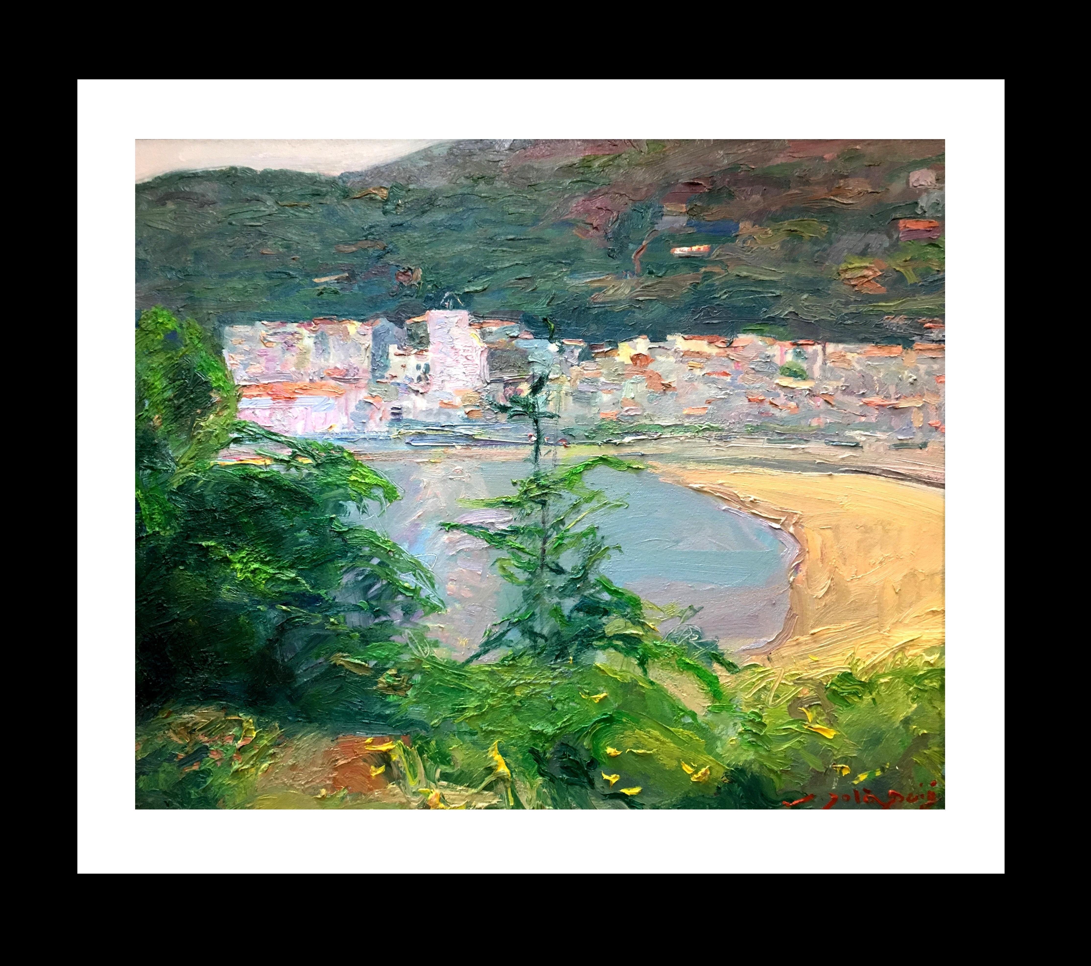 Lanscape of Mallorca  original impressionist oil canvas painting