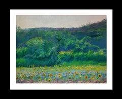 Lanscape Seasons II original impressionist oil canvas painting