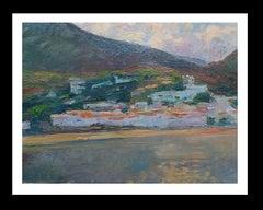 Marina original impressionist acrylic painting