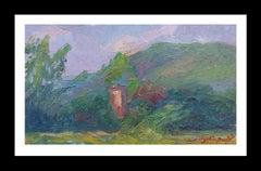 mountains original  impressionist acrylic painting
