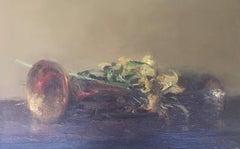 Music Trumpet original impressionist canvas oil painting