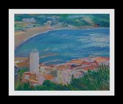 near the beach original impressionist acrylic painting