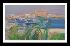 Palma Mallorca  Bay original impressionist acrylic painting