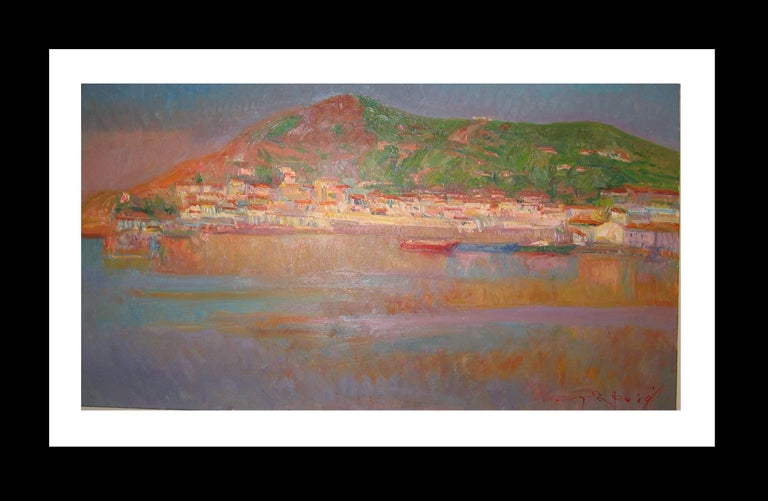 Joan SOLA PUIG Landscape Painting - Port de la SElva original impressionist canvas oil painting