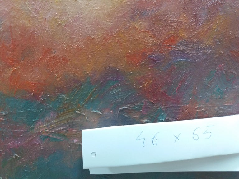 Sitges original impressionist acrylic painting. virtual framed SOLÁ paints in a natural way, which reflects the Old Masters, soaking up the colour, air, smell and the pure scent of his environment. He delivers to his canvas the strange mix of