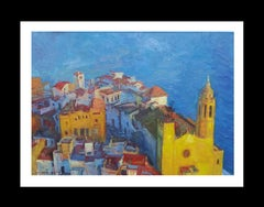 Sitges original impressionist acrylic painting