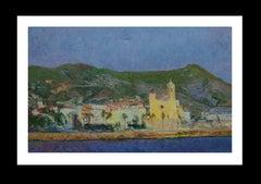 Sitges original impressionist acrylic painting